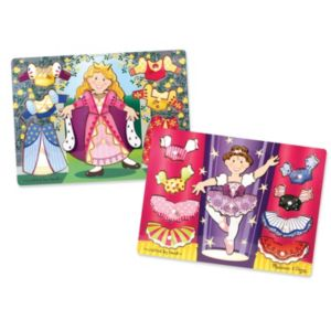 Melissa & Doug Princess & Ballerina Mix 'n Match Dress Up Puzzle Bundle