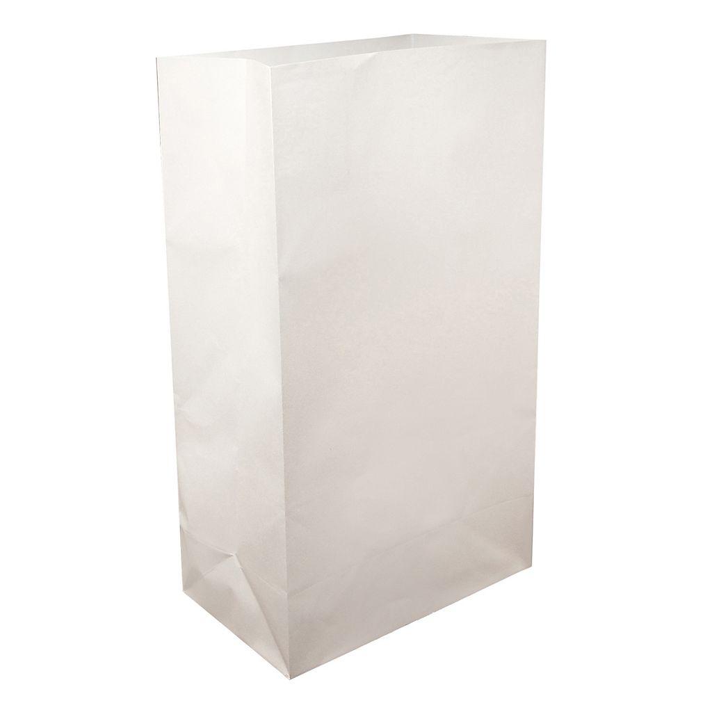 LumaBase White Paper Luminaria Bags 100-piece Set