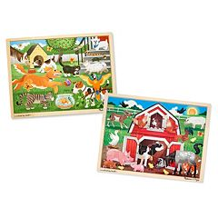 Melissa & Doug Pets & Farm 24-pc. Jigsaw Bundle