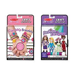 Melissa & Doug Friendship Bracelets & Fashion Designer On-the-Go Crafts Bundle
