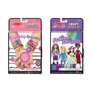 Melissa & Doug Friendship Bracelets & Fashion Designer On-the-Go Crafts Bundle
