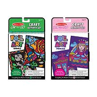 Melissa & Doug Princess & Animals On-the-Go Crafts Foil Art Bundle
