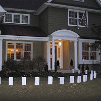LumaBase White Flame Resistant Luminaria Bags 100 pc Set