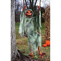 Swinging Pumpkin Skeleton 5-Foot Halloween Décor