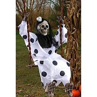 Swinging Scary Skeleton Clown 3-Foot Halloween Décor