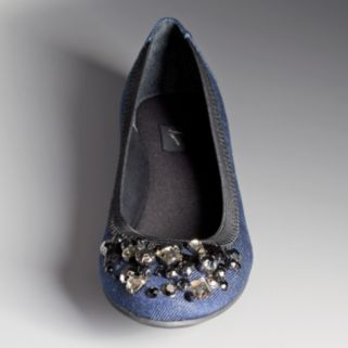 Simply Vera Vera Wang Women's Beaded Ballet Flats
