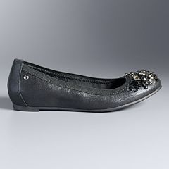 Simply Vera Vera Wang Women's Beaded Ballet Flats