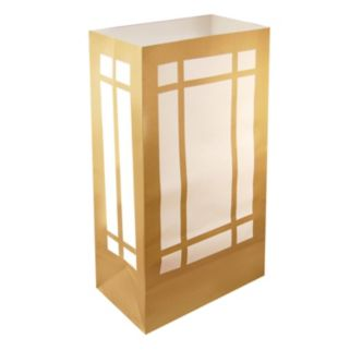 LumaBase Gold Finish Lantern Luminaria Bags 100-piece Set