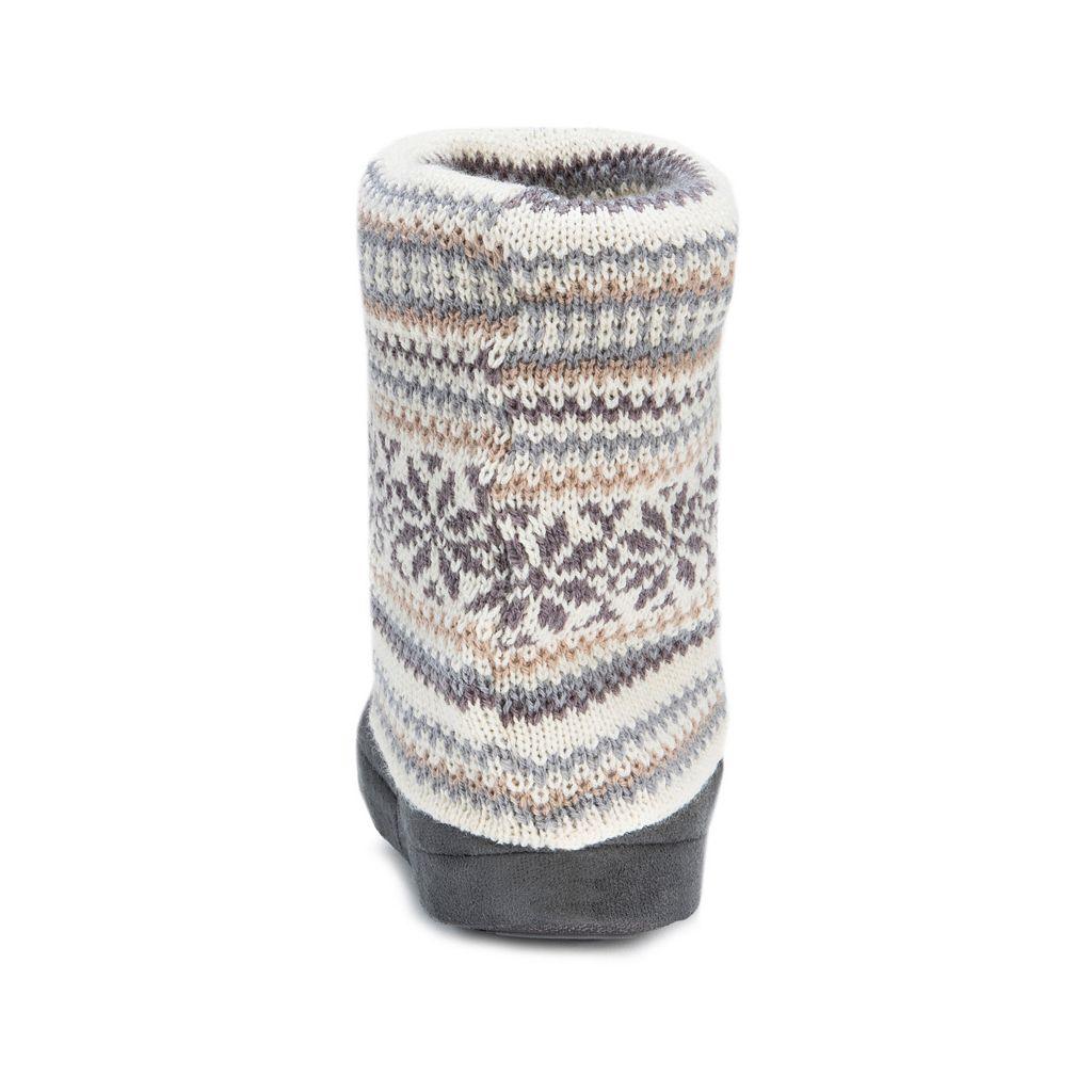 MUK LUKS Women's Knit Leg Warmer Bootie Slippers