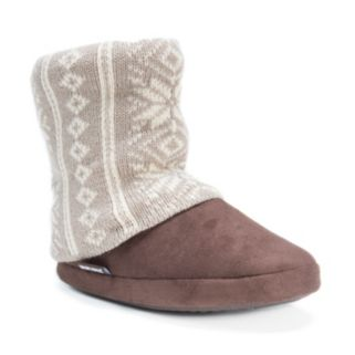 MUK LUKS Women's Knit Leg Warmer Bootie Slippers