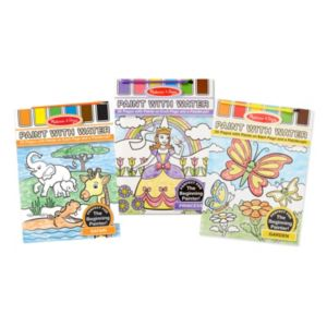Melissa & Doug Safari, Princess & Garden Paint With Water Bundle