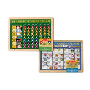 Melissa & Doug Magnetic Monthly Calendar & Responsibility Chart Bundle