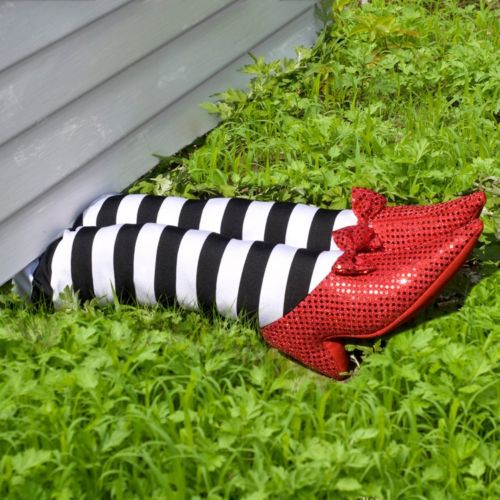 Wizard of Oz Wicked Witch of the East Legs Halloween Décor