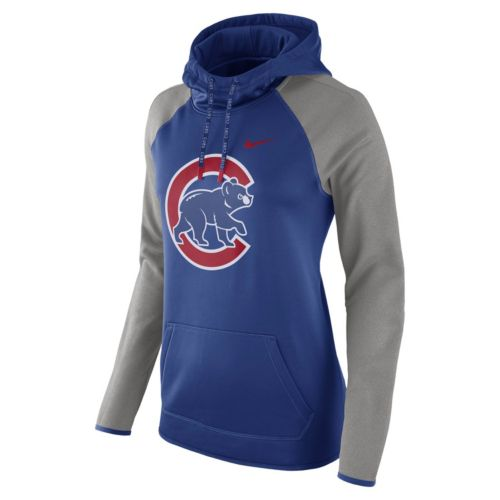 Women's Nike Chicago Cubs Therma-FIT Midweight Raglan Hoodie