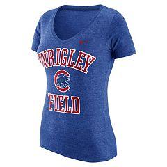 Women's Nike Chicago Cubs Local Tri-Blend Tee