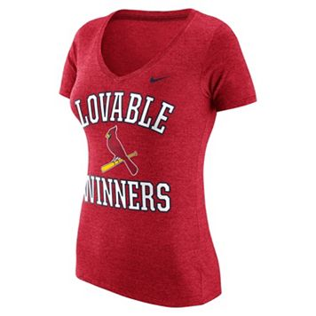Women's Nike St. Louis Cardinals Local Tri-Blend Tee