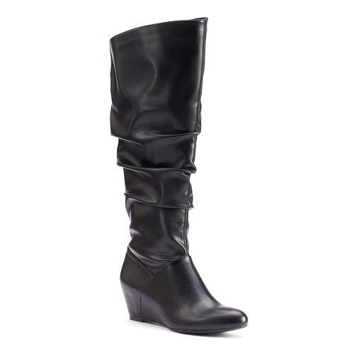 Jennifer Lopez Women's Slouchy Wedge Boots