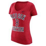 Women's Nike Boston Red Sox Local Tri-Blend Tee