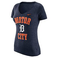 Women's Nike Detroit Tigers Local Tri-Blend Tee