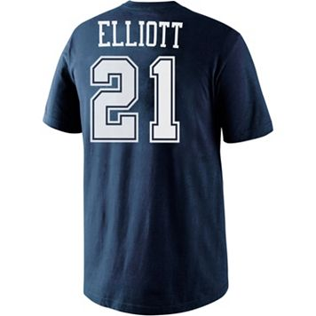 Men's Nike Dallas Cowboys Ezekiel Elliott Player Name and Number Tee