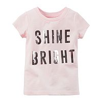Baby Girl Carter's Short Sleeve Slogan Tee