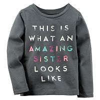 Baby Girl Carter's Long Sleeve Slogan Tee