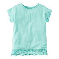 Baby Girl Carter's Crochet Lace Pom-Pom Tee