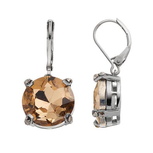 Simply Vera Vera Wang Brown Round Faceted Stone Drop Earrings