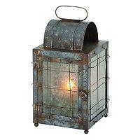 Industrial Gunmetal Finish Candle Lantern