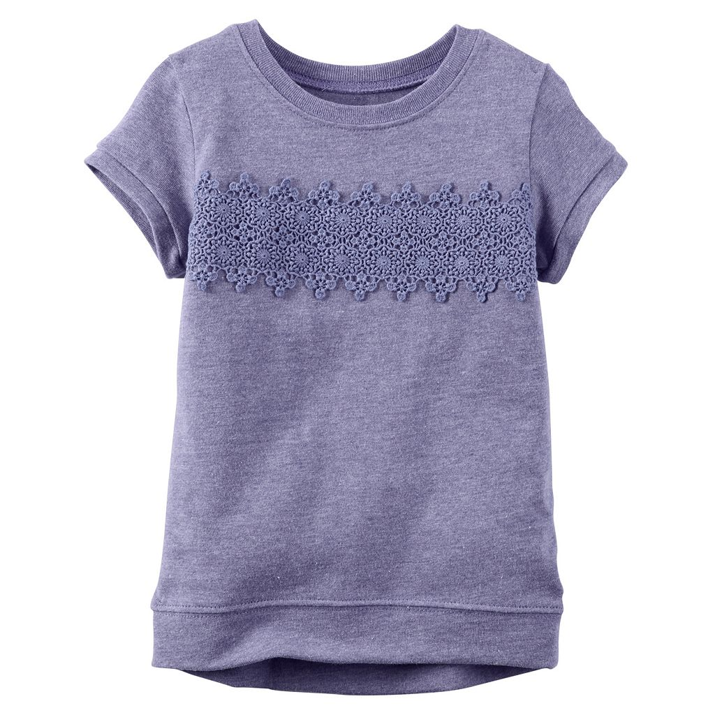 Baby Girl Carter's Crochet Lace Front Top