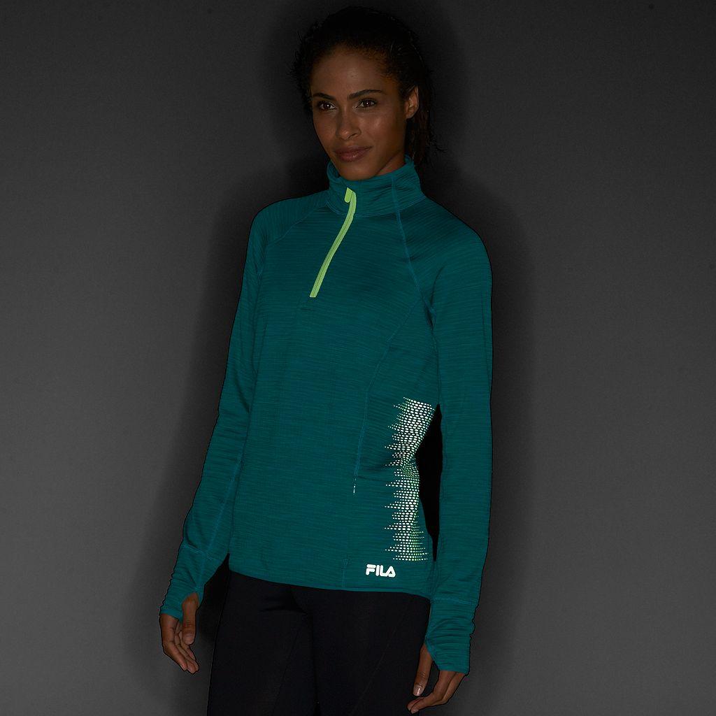 Women's FILA SPORT® Reflective Dot Quarter-Zip Running Jacket