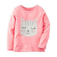 Baby Girl Carter's Long Sleeve Glitter Graphic Tee