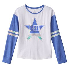 Girls 7-16 & Plus Size SO® Blocked Long Sleeve Graphic Tee