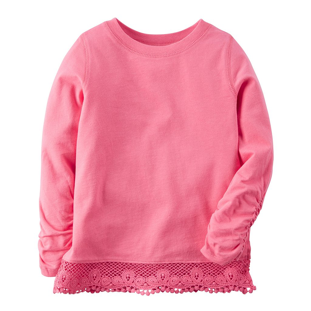 Baby Girl Carter's Long Sleeve Lace Hem Top