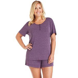 Plus Size Cuddl Duds Pajamas: Essential Sleep Tee & Boxers Set