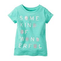 Baby Girl Carter's Short Sleeve Jersey Graphic Tee