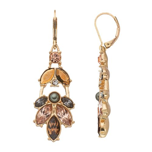 Simply Vera Vera Wang Faceted Marquise Cluster Drop Earrings