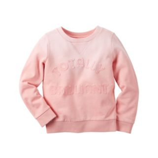 Baby Girl Carter's French Terry Slogan Applique Pullover