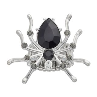 Black Spider Stretch Ring