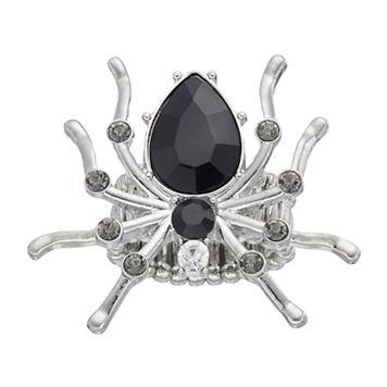 Black Spider Stretch Ring