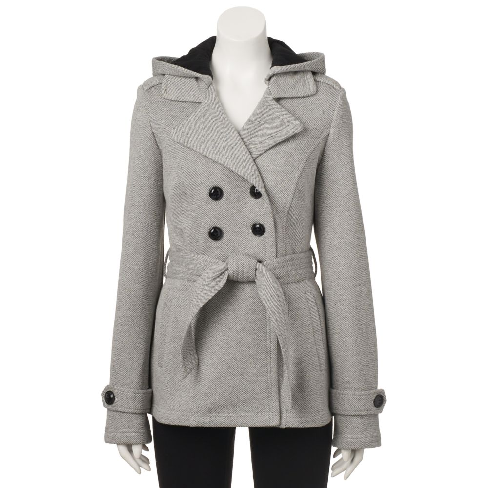 Sebby Belted Fleece Trench Coat
