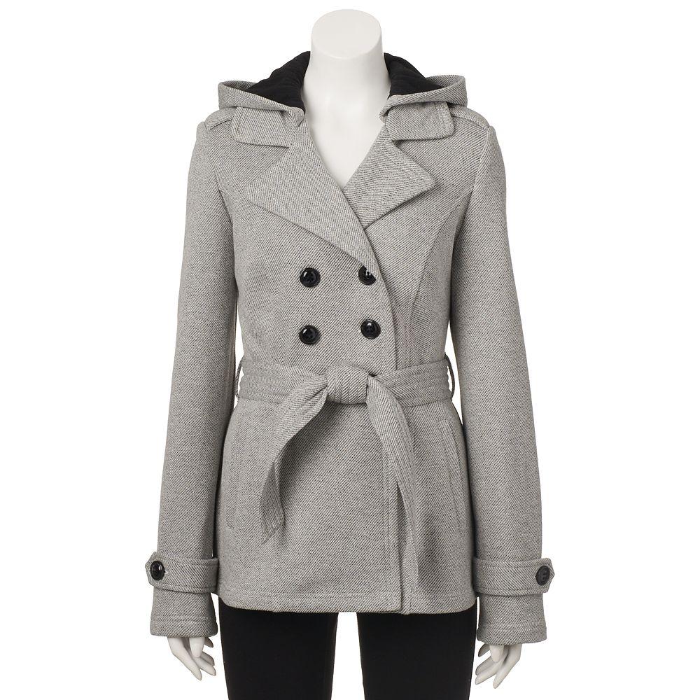 Sebby Belted Fleece Trench Coat