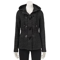 Juniors' Sebby Marled Toggle Fleece Jacket