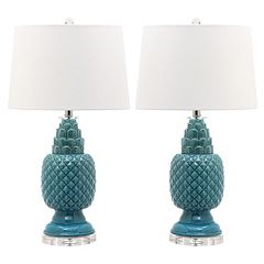 Safavieh Blakely Teal Table Lamp 2-piece Set