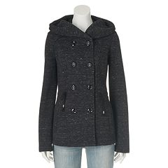 Womens Hooded Peacoat Coats &amp Jackets - Outerwear Clothing | Kohl&39s