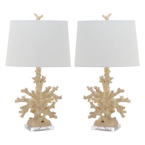 Safavieh Coral Branch Table Lamp 2-piece Set
