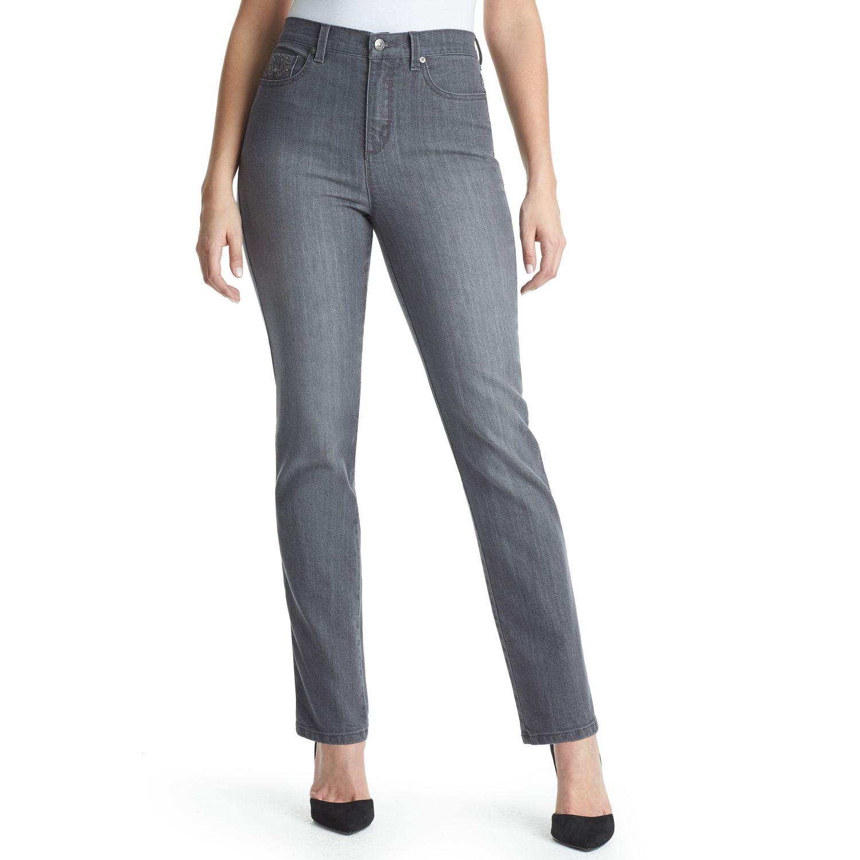 Womens Gloria Vanderbilt Amanda Classic Fit Embroidered Tapered Jeans