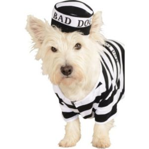Pet Prisoner Dog Costume