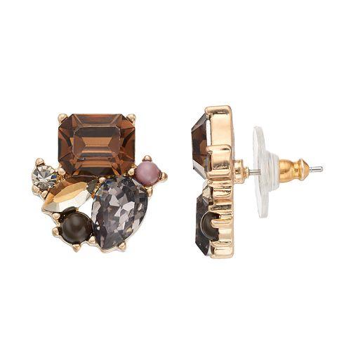 Simply Vera Vera Wang Geometric Cluster Stud Earrings