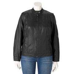 Plus Size Apt. 9¨ Faux-Leather Moto Jacket
